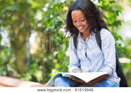 smart african american university student studying