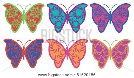 Colorful Fancy Butterfly Vector Design