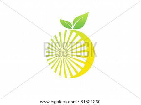 lemon fruit nutrition logo,orange fruit juice beverages symbol icon