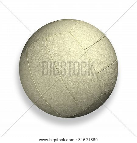 Volleyball Isolated On A White Background As A Sports And Fitness Symbol Of A Team Leisure Activity