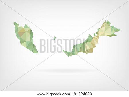 Low Poly map od Malaysia