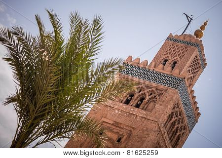Mosque Tower In Marrakesh Morocco