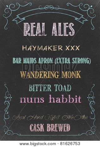Real Ale  Menu