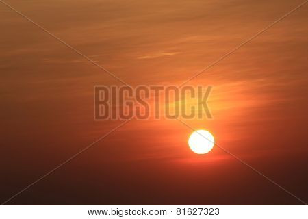 sunrise showing the sun behind