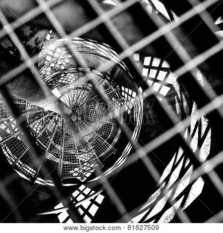 dark black and white geometric background
