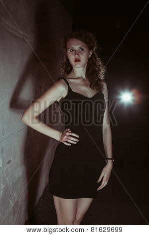 Film Noir Girl In The Retro Image