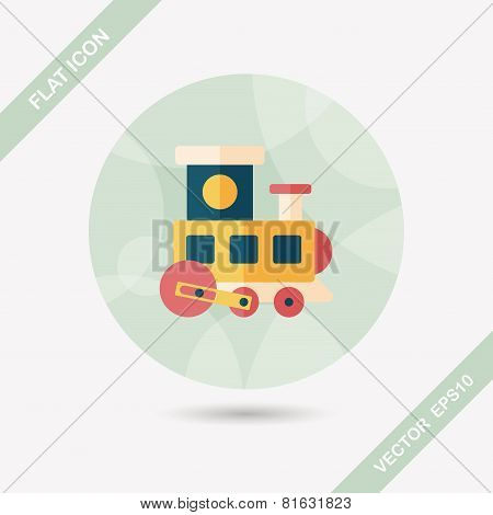 Train Toy Flat Icon With Long Shadow,eps 10