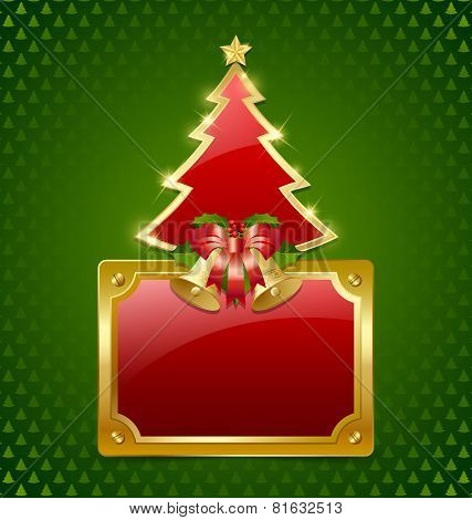Christmas Tree With Bells And Plaque