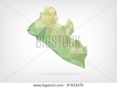 Low Poly map od Liberia