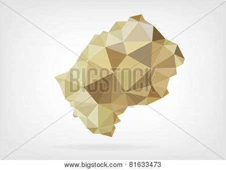 Low Poly map od Lesotho