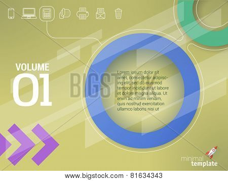 Abstract geometrical presentation vector template