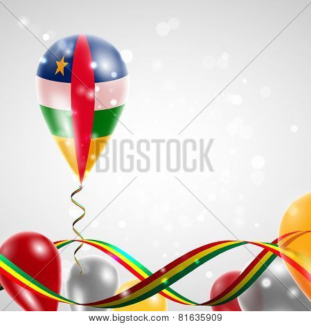 Flag of Central African Republic on balloon