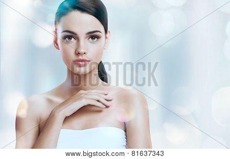 Portrait of beautiful female model
