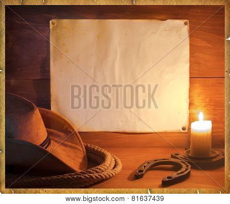 Cowboy Western Background For Text