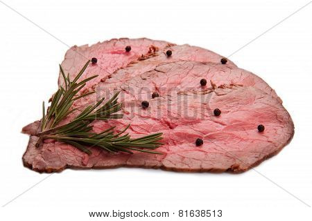 Roastbeef Isolated On White