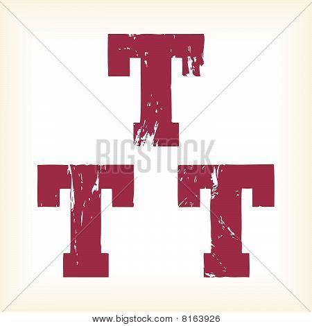Grunge vector T letter
