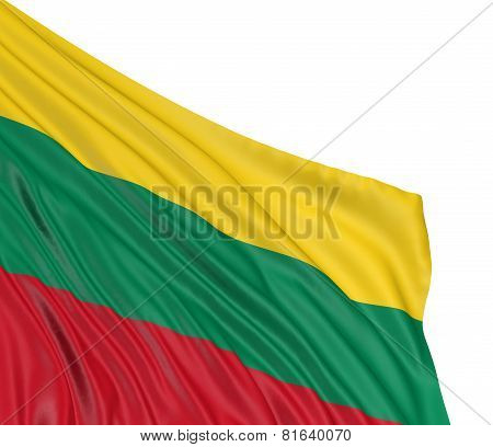 3D Lithuanian flag