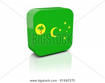 Square Icon With Flag Of Cocos Islands