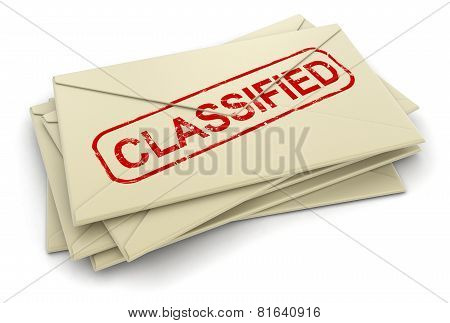 classified letters  (clipping path included)