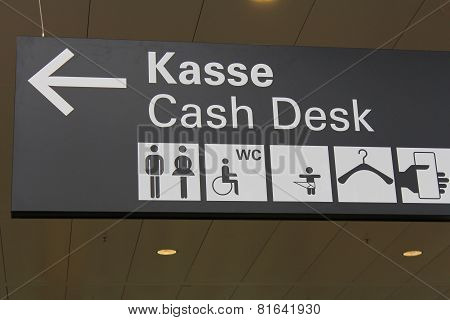 The Sign For The Cash Desk