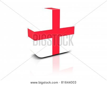 Square Icon With Flag Of England
