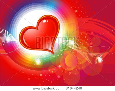 Abstract Shiny Colorful Valentine Background