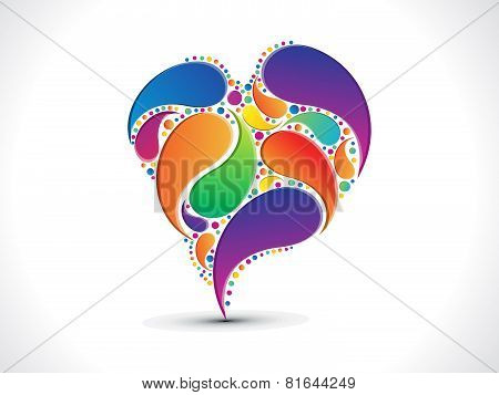 Abstract Artistic Colorful Floral Heart Background