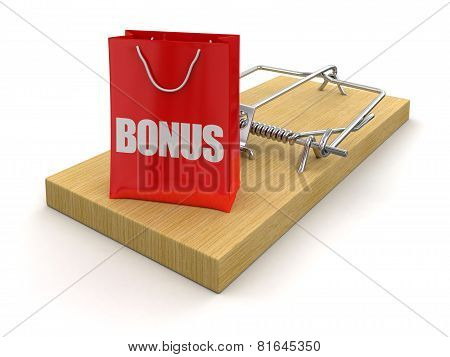 Mousetrap and bag bonus (clipping path included)