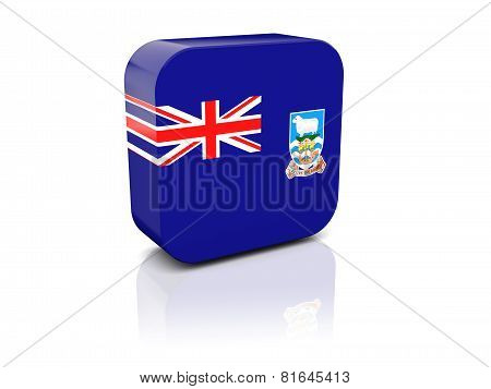 Square Icon With Flag Of Falkland Islands