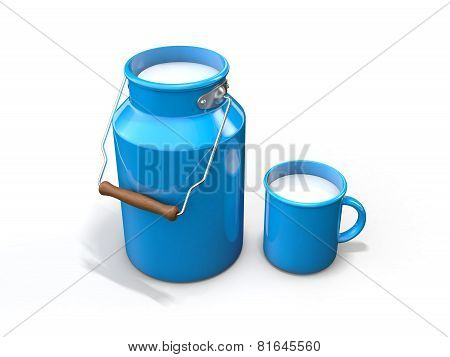 Milk churn isolated on white background