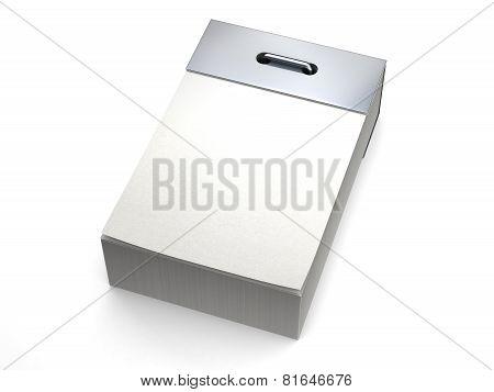 Tear-off calendar isolated on white