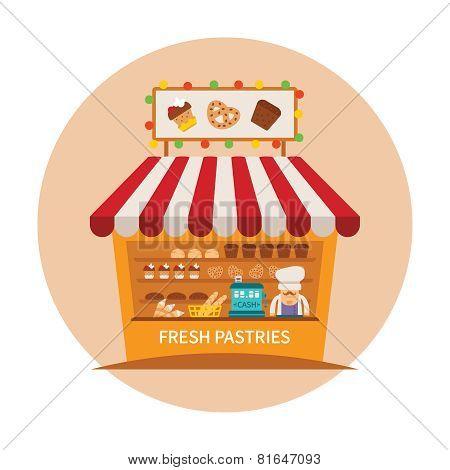 Bake Shop Or Baking Store Vector Concept