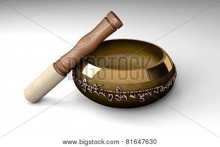 Tibetan buddhist singing bowl for meditation