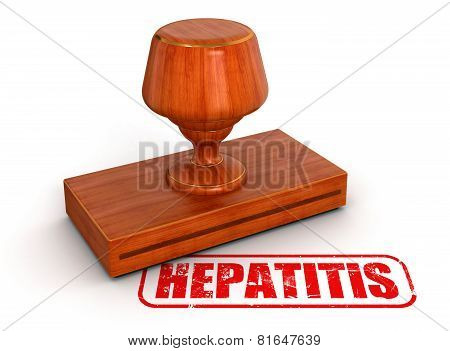 Rubber Stamp hepatitis  (clipping path included)
