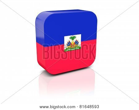 Square Icon With Flag Of Haiti