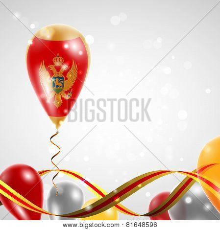 Flag of Montenegro on balloon