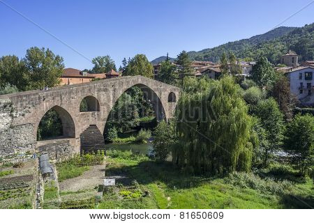 Medieval Stone Bridge, Sant Joan De Les Abadesses