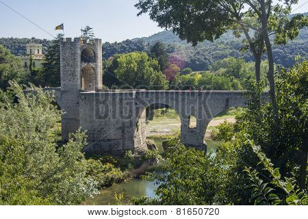 Medieval Stone Bridge, Besalú, Girona, Spain