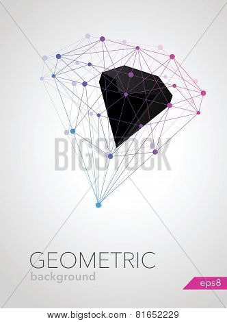 Abstract Geometric Shape Of Molecular Compounds Vector