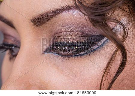 Female eye. Egypt style.