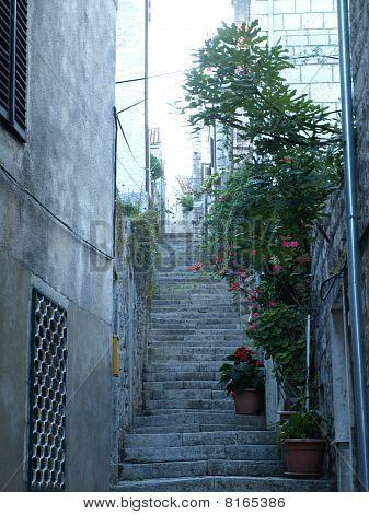 Straße in der Stadt von cavtat