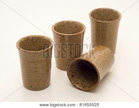 Stoneware Cups Set