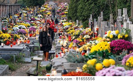 Cemetery In Warsaw