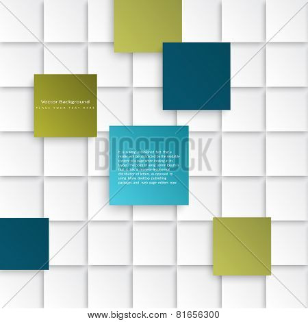 Abstract vector squares background.