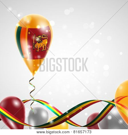 Flag of Sri Lanka on balloon