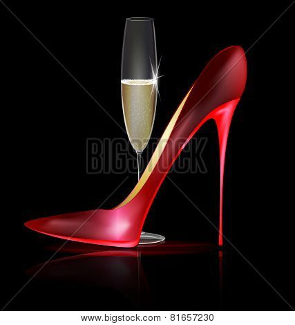 red shoe and drink