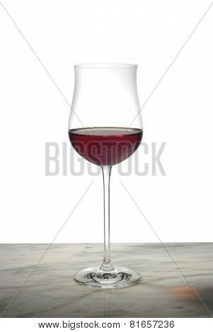 Red Wine Glass And Marble