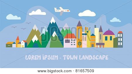 Banner with tourist town