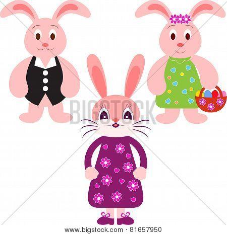 Bunny Vectors, Rabbit Vectors, Animal Illustrations