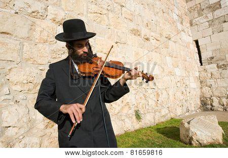 Jewish Street Musician